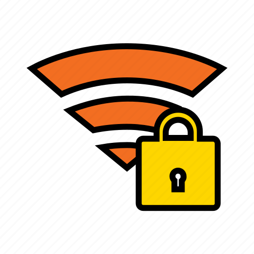internet security, need password, private network, protected wifi, secured connectivity, wifi security icon