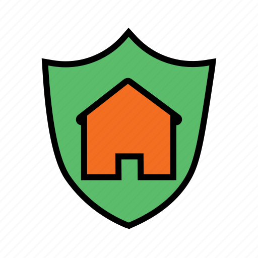 home protection, locked home, safe home, secured home, smart home icon