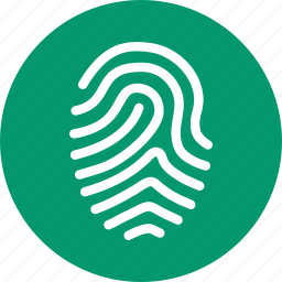 biometric identification, biometry, finger print, fingerprint, identity, protection, trace icon