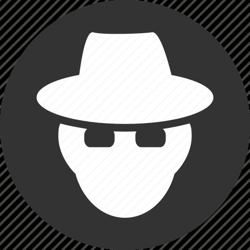 cia spy, detective, fbi agent, hacker, secret service, security, thief icon