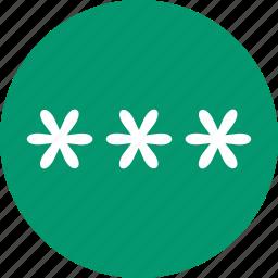 access code, login, pass, password, register, secret key, unlock cipher icon