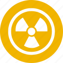 atomic, danger, energy, nuclear, power, radiation, radioactive icon
