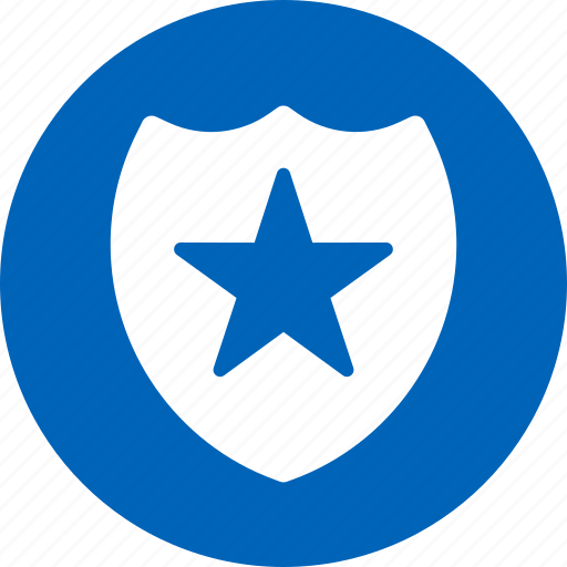 award, heraldic, protection, safety, security, shield, star icon