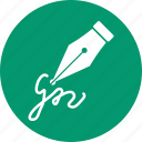 agreement, calligraphy, contract, signature, subscribe, write, writing icon
