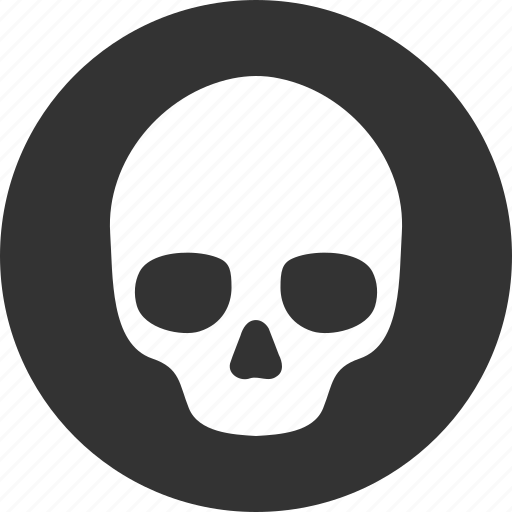 caution, danger, death, hazard, risk, skull, warning icon