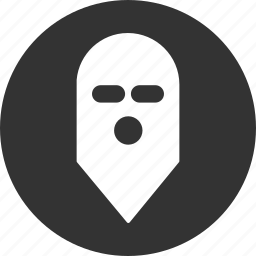 cyber crime, hacker, mask, military, soldier, terrorist, warrior icon