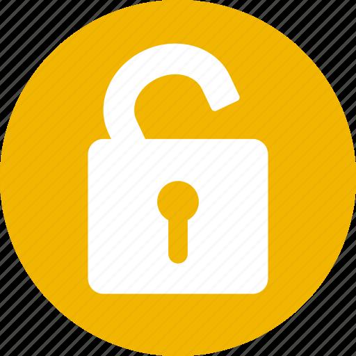 locked, login, open lock, password, secure, security, unlock icon