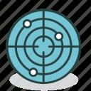 radar, scan, scanning, signal, sonar, tracking, virus icon