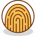 authentication, fingerprint, identification, identity, person, security, user icon