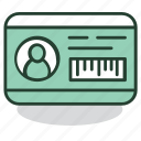 access, card, certificate, id, identification, safety, security icon