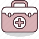 assistance, case, help, kit, medical, service, support icon