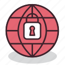 internet, network, padlock, protection, safety, security, web icon