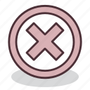 access, close, denied, restricted, security, sign, x icon
