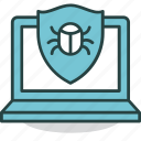 antivirus, bug, computer, protection, security, shield, virus icon
