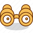 binoculars, examine, find, look, search, tool, watcher icon