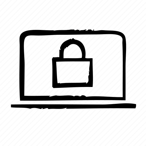 lock, notebook, protection, security icon