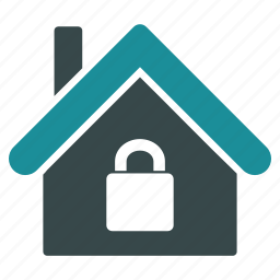 apartment, building, company, home, house, lock, locked icon