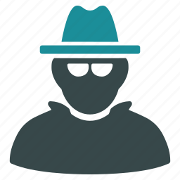 cia spy, detective, fbi agent, hacker, hat, secret service, thief icon