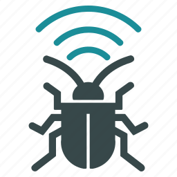 antenna, bug, equipment, radio, security, signal, virus icon