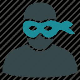 burglar, crime, criminal, gangster, mask, robber, thief icon