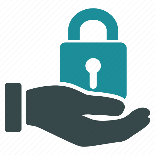 hand, lock, password, safe, safety, secure, security icon