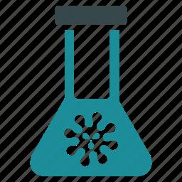 bacteria, danger, disease, flask, illness, infection, virus icon