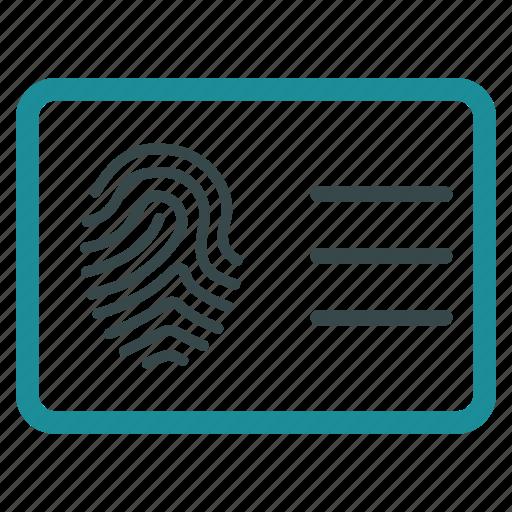 account, biometric identification, biometry, finger print, fingerprint, identity, protection icon