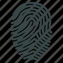 biometric identification, biometry, finger print, fingerprint, identity, protection, trace icon