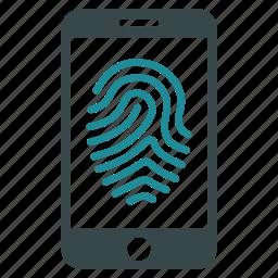 biometric, biometry, fingerprint, identification, identity, protection, trace icon