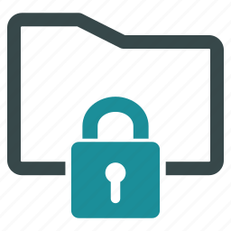 folder, lock, password, protection, safety, secure, security icon