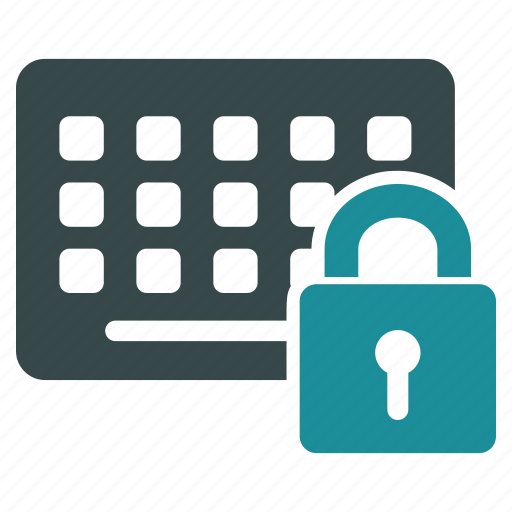 keyboard, keypad, lock, locked, padlock, safety, security icon