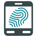 biometry, device, fingerprint, office, scan, scanner, scanning icon