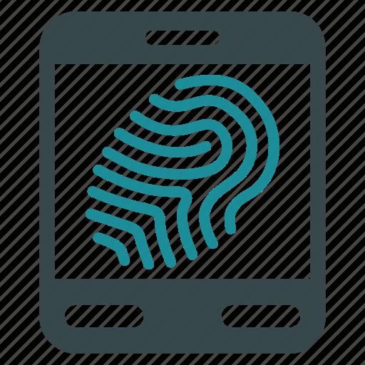 biometry, device, fingerprint, office, scan, scanner, scanning icon