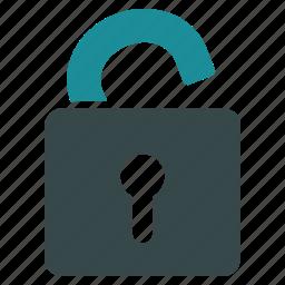 lock, locked, open, password, secure, security, unlock icon