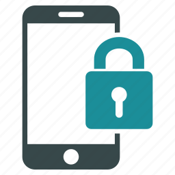 communication, lock, locked, mobile, phone, secured, smartphone icon
