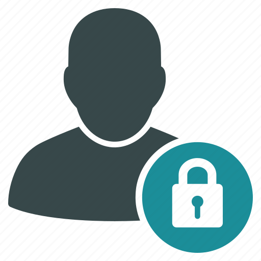 account, lock, locked, person, profile, security, user icon
