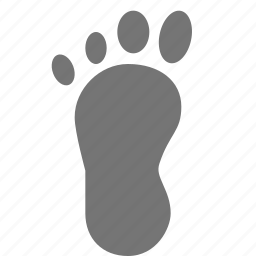 foot, footprint icon