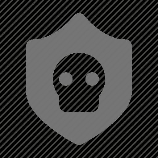 shield, skull icon