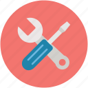 options, preferences, screwdriver, settings, toolkit, tools, wrench