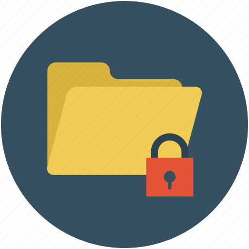 folder, folder and padlock, safe documents, safe files, secure data, secure files icon