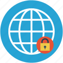 globe and lock, globe with lock, international security, security concept, universal security, worldwide security icon