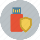 safe, safe data storage, safe memory, secure, usb shield icon