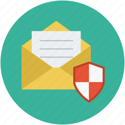 mail protection, mail shield, safe emailing, safety concept, secure communications, secure email icon