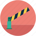 road barrier, security, security road barrier, stop road barrier, stop sign icon