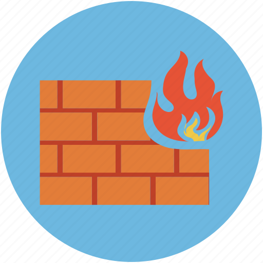 computer security device, digital protection, firewall, protection, safety concept icon