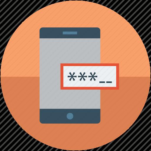 cellphone login, digital protection, mobile login, safety concept, screen lock, screen login, web login icon