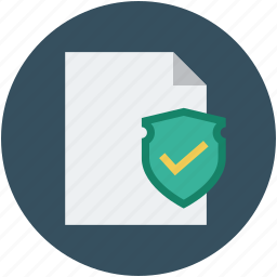 data safety, paper and shield, paper with shield, safe documentation, safe file, safety concept, secure data, secure documentation icon