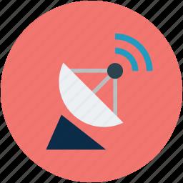 antenna, dish, dish antenna, radar, satellite, signals, wireless icon
