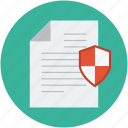 data safety, document and shield, document shield, safe documentation, secure data, secure documentation icon