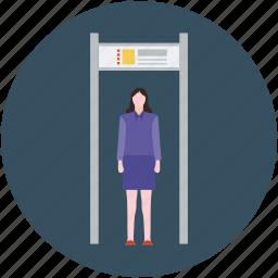 detector gate, metal detector, security check, security concept, security control, security entrance, security portal icon
